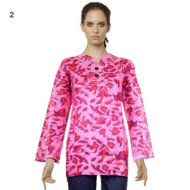 Blus Batik I Model Baju Blus Modern Terbaru Anggi Murah