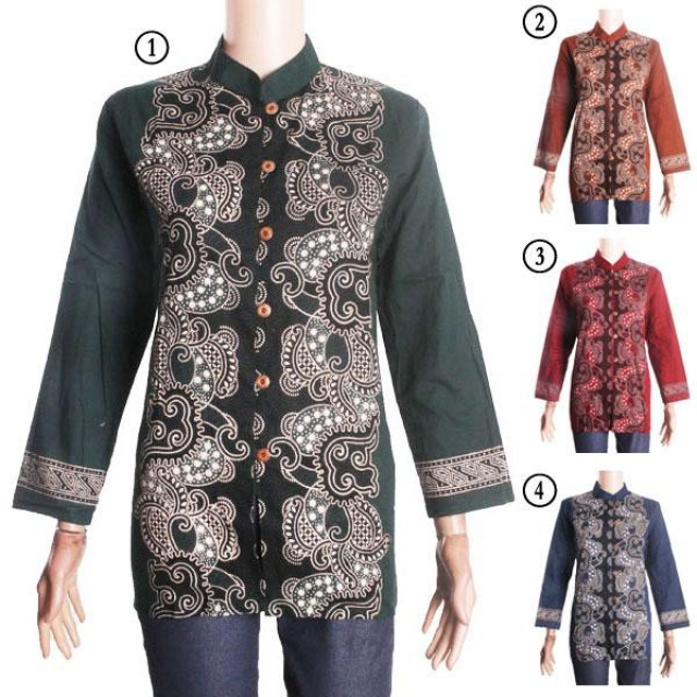 Jual Model Baju Batik I Model Baju Terbaru Blus Batik Sabrina Murah Oleh Fashion Batik Di Bantul Winmarket Shop
