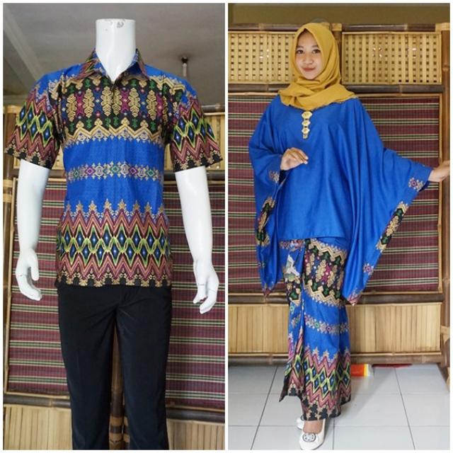 Baju Batik Couple Warna Biru - Inspirasi Desain Menarik
