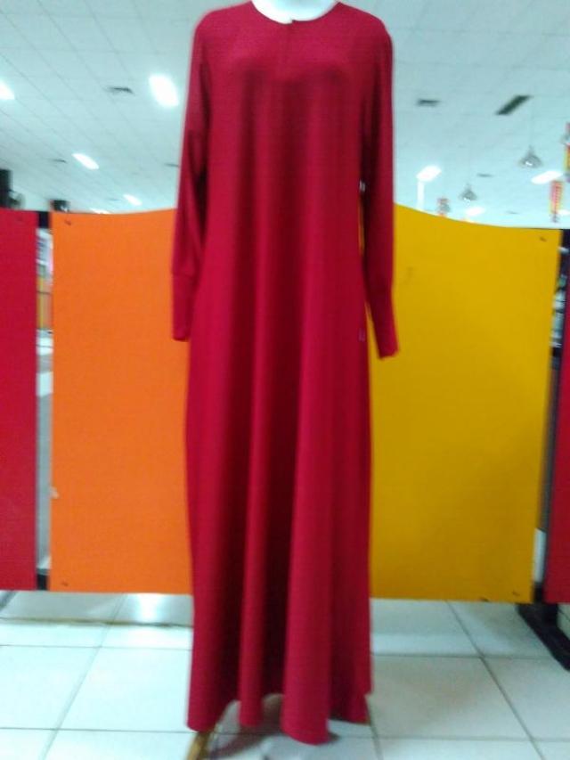 Gamis Jersey Polos Warna Merah Xl Belanja Bebasbayar