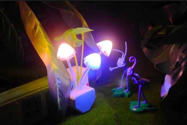Lampu Tidur bentuk Jamur I LED night light I Lampu otomatis mati nyala