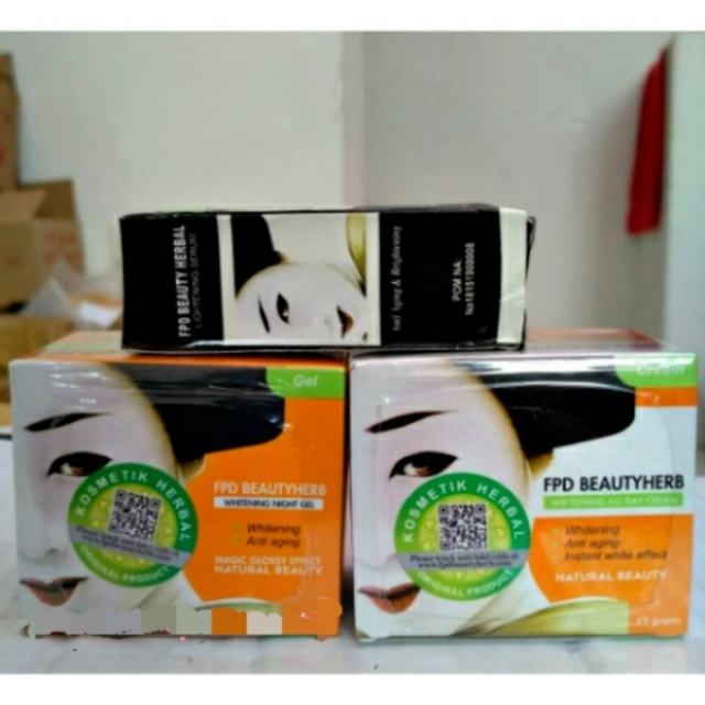 Paket cream FPD beauty herbal / vage / magic glossy / night+day+serum. BELI SEKARANG