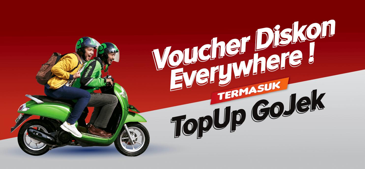 Voucher Diskon Everywhere ! Termasuk Top Up Go-Pay