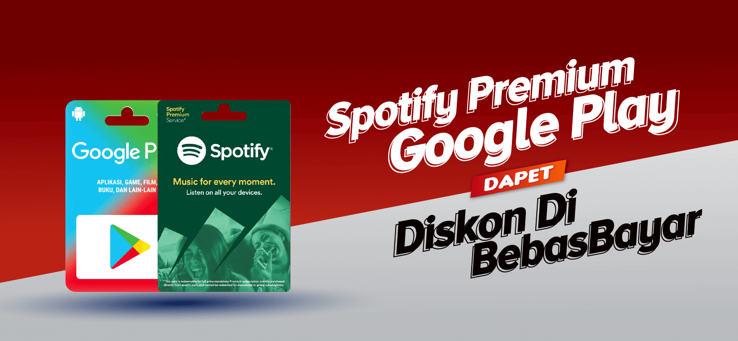 Spotify Premium , Beli Skin , Top Up Google Play di BebasBayar Aja