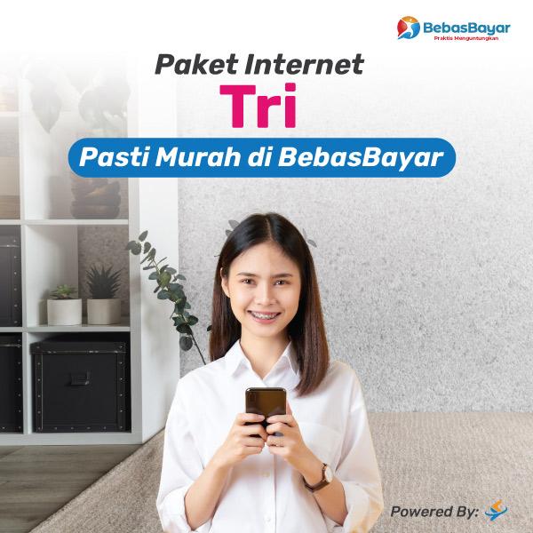 Jual paket internet 3 harian bulanan unlimited paling murah - BebasBayar