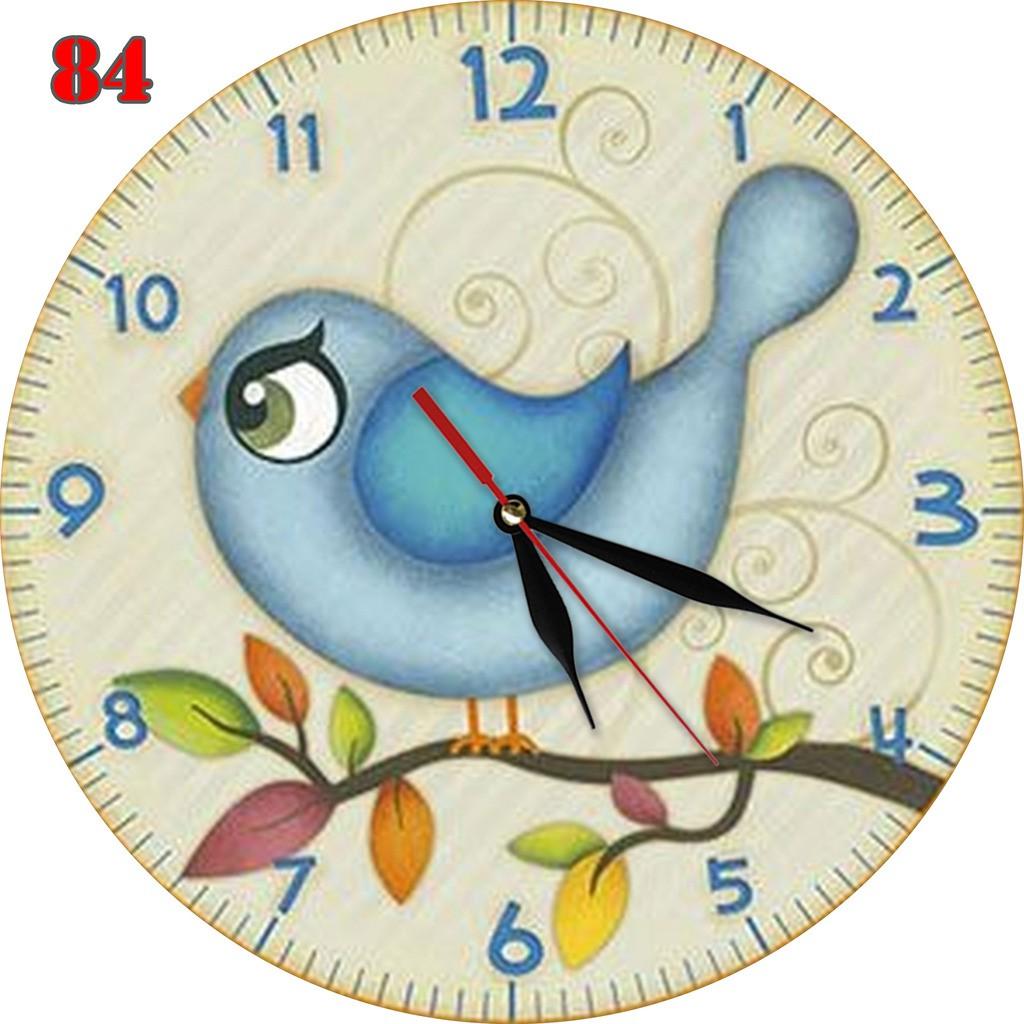Jual 84 Jam Dinding Unik Lucu Bahan MDF Motif Gambar Kartun Burung Oleh Enatural Di Jember Winmarket Shop