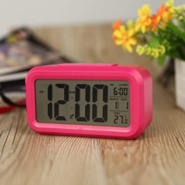 JAM MEJA DIGITAL ALARM SMART CLOCK LCD LED Light Thermometer Tanggal Kalender Jam Weker BELI SEKARANG