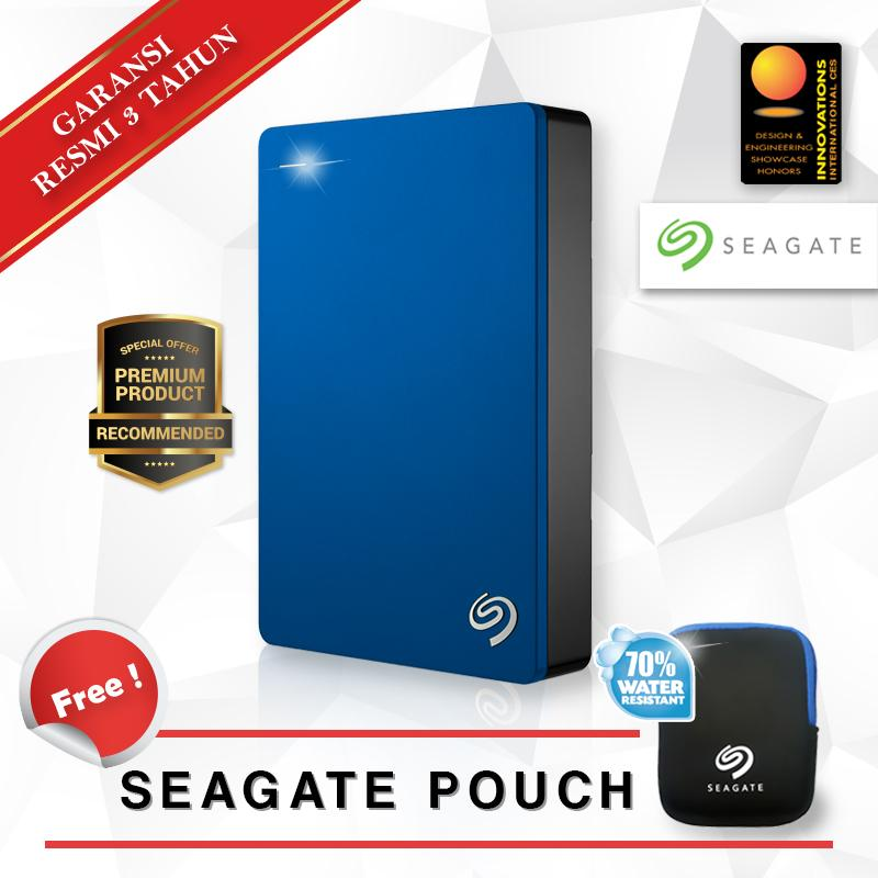 Seagate Harddisk Portabel Backup Plus Slim 4TB - Biru & Free Pouch