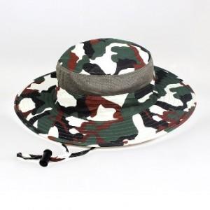 Luar ruangan laki-laki Musim Panas Diaoyu topi visor topi (Kamuflase empat)