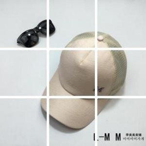 Korea Fashion Style mercerized hitam Cooljie topi topi topi (Bernapas jala M standar aprikot)