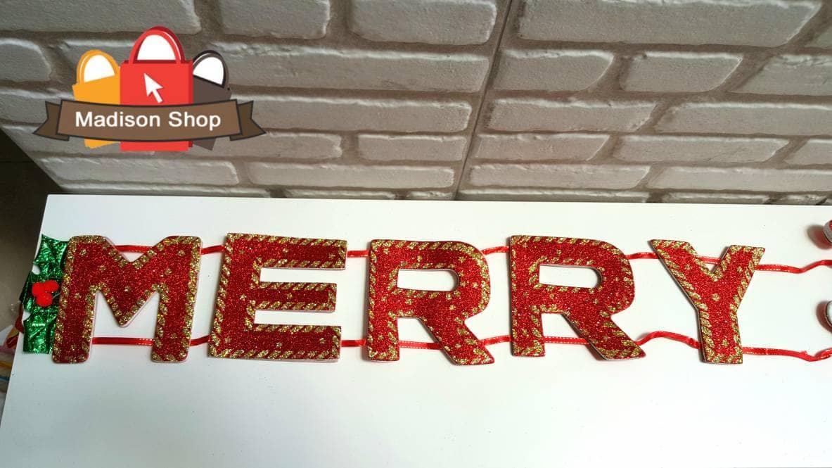 Jual Sale Dekorasi Garland Merry Christmas Hiasan Dinding