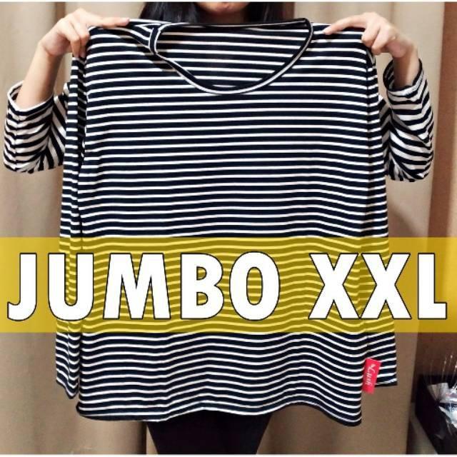 Stevi JUMBO / Stevia + ROK XL / Blouse / fedora / belle / Atasan Baju