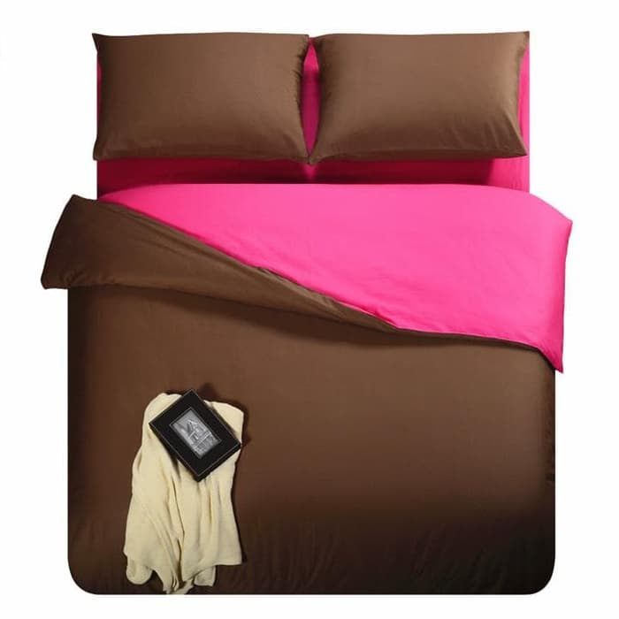 SPREI POLOS KATUN PRADA JAXINE CHOCO BLACK QUEEN 160X200 Belanja Source · Sprei Katun Jepang Polos Pink Choco 180x200x25