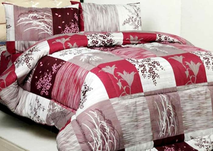 Bedcover Tanpa Sprei Katun Jaxine Paddy Single 160x240cm