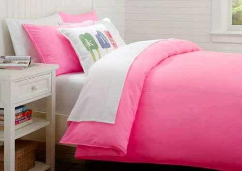 Sprei Jaxine Polos Katun Prada White Pink 120x200x20