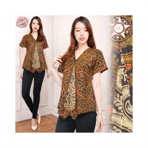 168 Collection Atasan Blouse Eiko Kemeja Batik Wanita