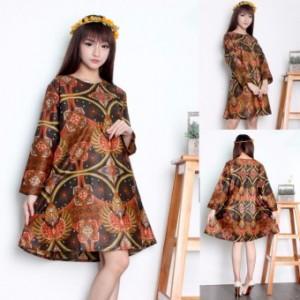 168 Collection Atasan Tunik Blouse Batik Kimie Kemeja wanita