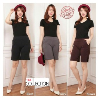 168 Collection Celana Pendek Mimi Short Pant-Hitam
