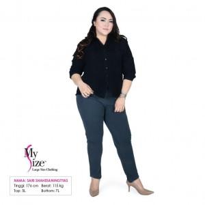My Size Kemeja Ukuran Besar Jumbo Plus Size Big Size Kemeja Franda HTMFM401