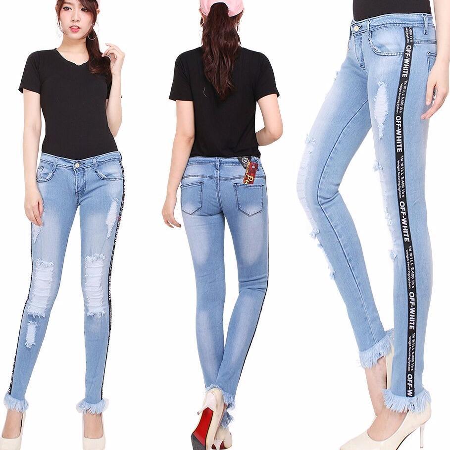 Master Jeans Celana Wanita List Rawis Sabek Puring Belanja Kaos Purple Sella Top