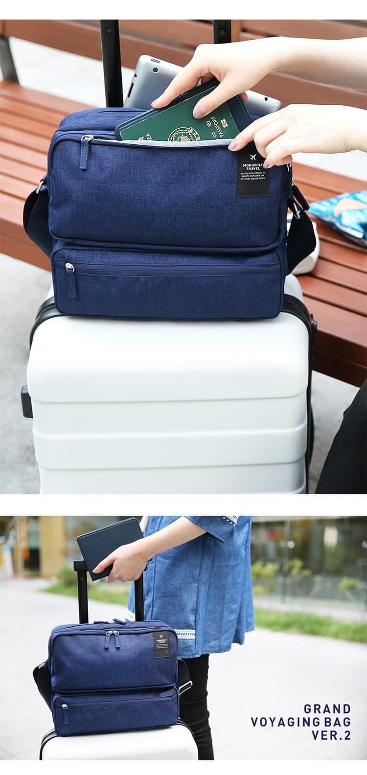 TP Tas Selempang IPAD Ver 2 Travel Organizer import - Tas kerja Pria G3 -  Abu -abu Tua GSR 9fe6256816