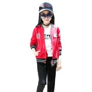 Versi Korea dari gadis baru anak-anak pakaian anak-anak (Merah)