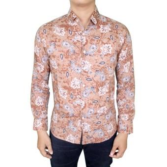 Baju Batik Pria Kemeja Batik Modern Eksklusif Harga Murah elevenia Source · Gudang Fashion Baju Kemeja Batik Slim Fit Panjang Modis Krem