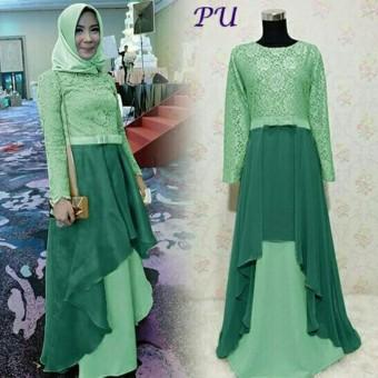 Fashion Muslim Gamis Kebaya Pesta Baju Muslim Pesta Kebaya Muslim