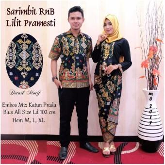 Baju Batik Couple / Batik Sarimbit \Lilit Pramesti\ HITAM