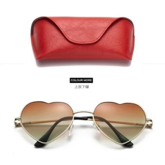 Laut yang indah transparan peach jantung pria dan wanita matahari kacamata kacamata retro