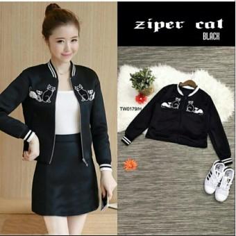 Popuri Fashion Jaket Bomber Wiley Jacket Babyterry Lengan Panjang ... 398253f14c