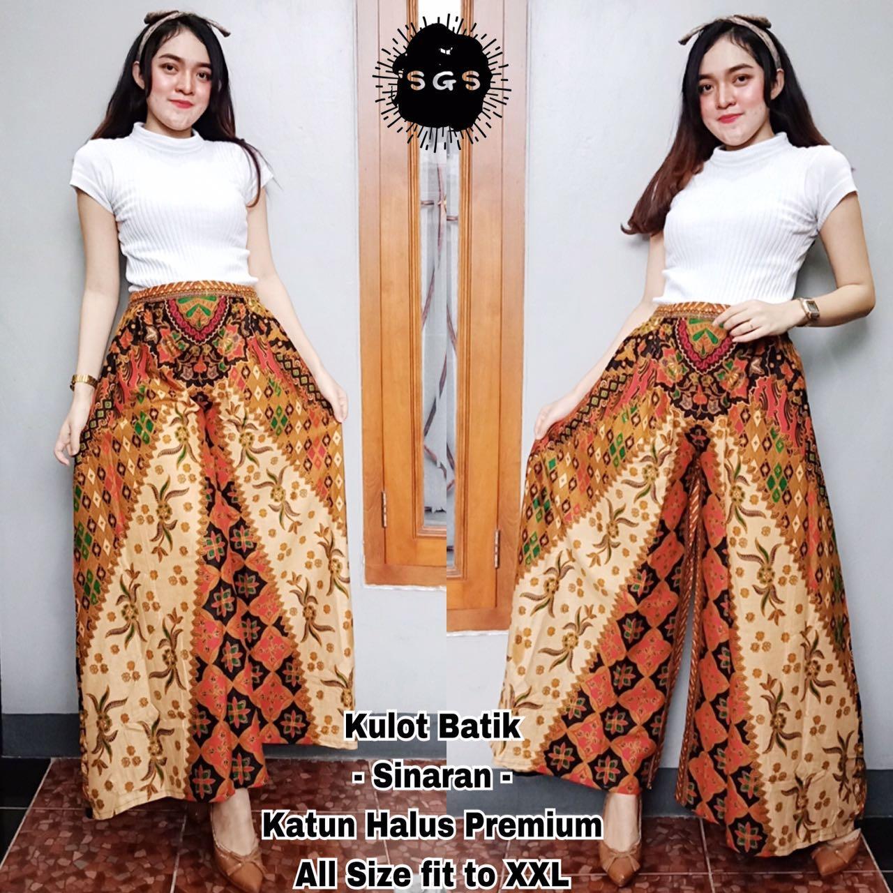 Bawahan Celana Panjang Kulot - Celana Kulot Batik - Celana Jogger Wanita -  Kulot Sinaran  ce2c6845a7