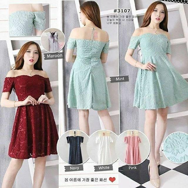 3107 Fashion Baju Outfit Pakaian Dress Gaun Pesta Casual Maxy Party