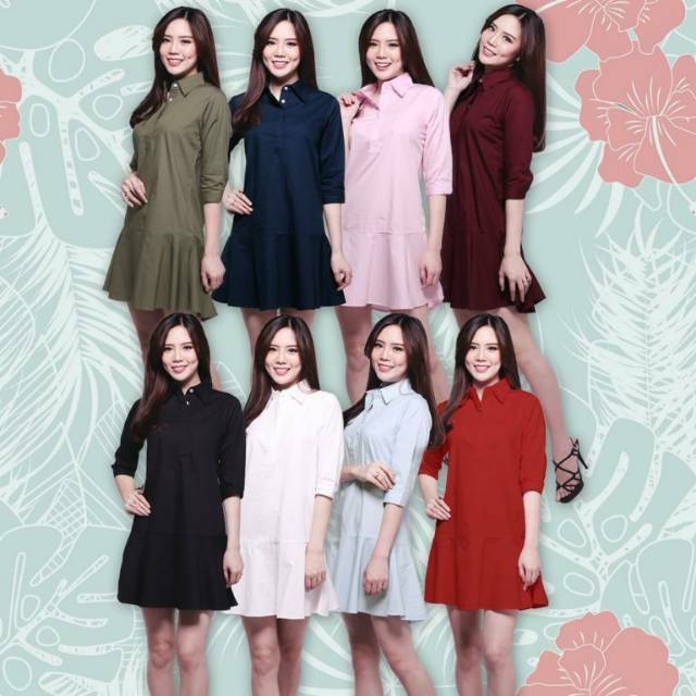 Ameline Dress Best Seller Fashion Baju Outfit Pakaian Casual Maxy