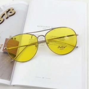 SHININGSTAR retro transparan perempuan lingkaran sunglasses kacamata hitam