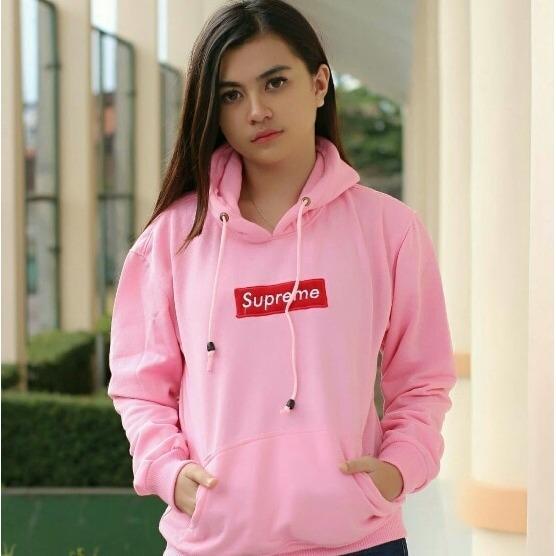 PASBAR jaket wanita JESICA OBLONG PINK bahan fleece fashion wanita terbaru 4fe66ce826