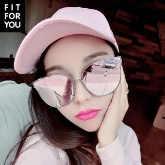 Cermin kepribadian perempuan SHININGSTAR model matahari kaca mata reflektif kacamata hitam