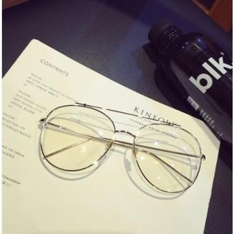Korea Fashion Style logam emas perempuan kaca mata rak frame kacamata 6d5cbc72ad