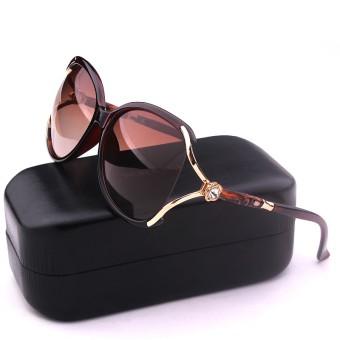Kepribadian perempuan SHININGSTAR model matahari kaca mata besar bingkai kacamata hitam