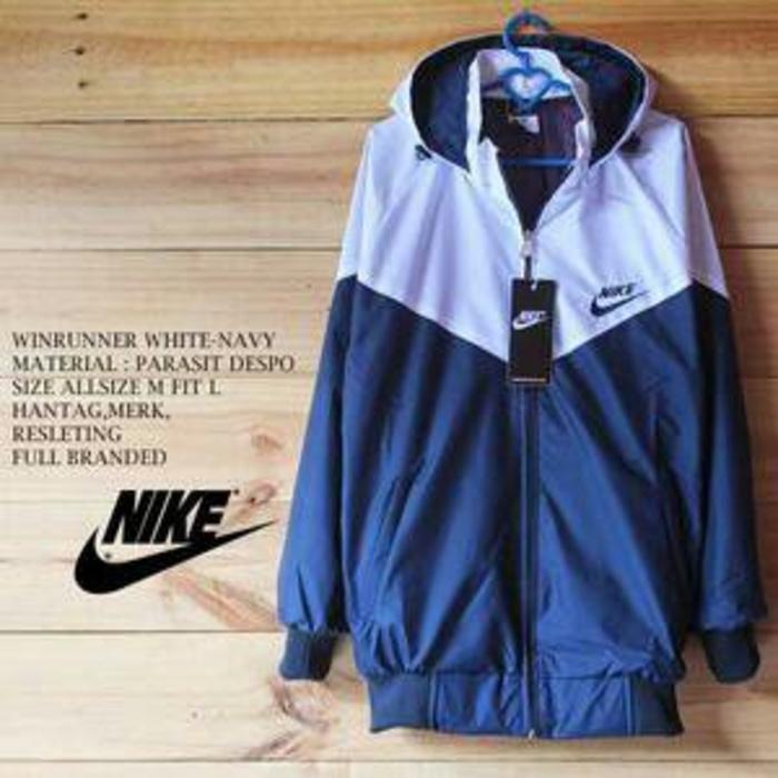 Jaket Nike Parasut Dua Warna Outwear Pria