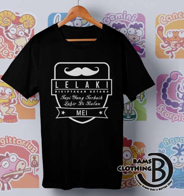 Kaos Funny Lelaki Terbaik Lahir Bulan Mei - Kaos Oblong Bams CLothingHitam