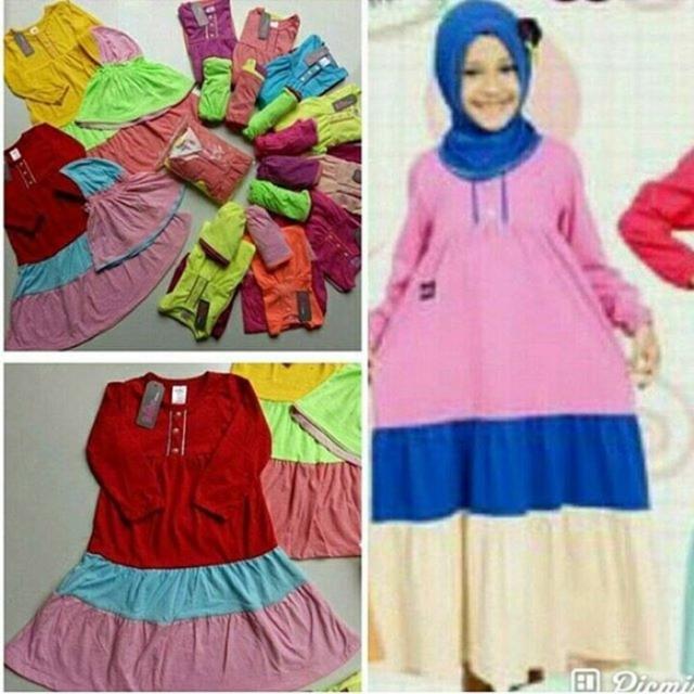 Jual Baju Muslim Anak Gamis Anak Merk Bobo Rainbow Gamis Bahan