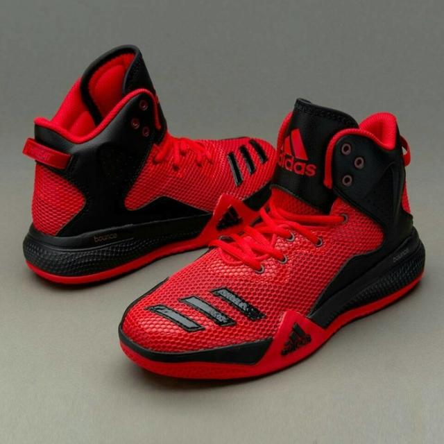 Jual sepatu basket adidas black red shoes murah 100% Original Oleh ... d593900f88